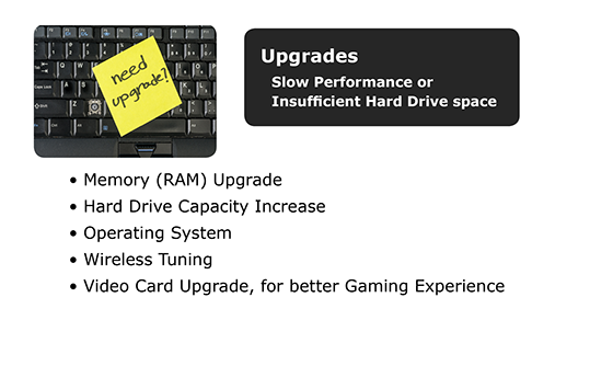 We can help you upgrade your computer software and hardware.